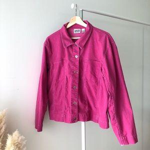 Neon Pink Corduroy Jacket
